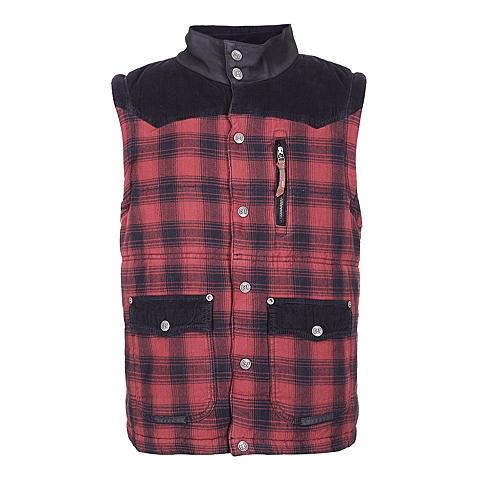 CAT/卡特 专柜同款 男装红黑格子棉服背心CA3MOPVT121B91