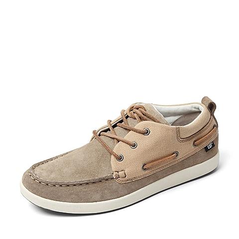 CAT/卡特春季专柜同款浅咖色猪皮革/织物男休闲鞋4869FC33 专柜1