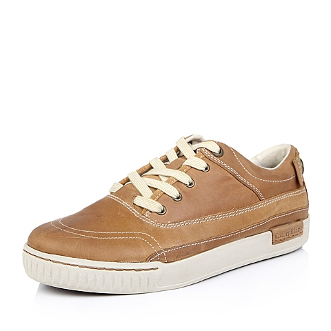 CAT/卡特浅棕头层牛皮男户外休闲鞋P713657D3BMC35 耐磨防滑 潮流密码(CODE)