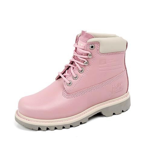 6a7040170255 卡特catP306241C4C粉色 CAT 卡特秋冬粉色牛皮女户外靴P306241C4C 防滑耐 ...
