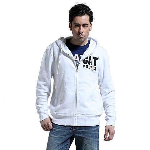 CAT/卡特 专柜同款 春季白色户外男卫衣CB3MKHOZ171W11