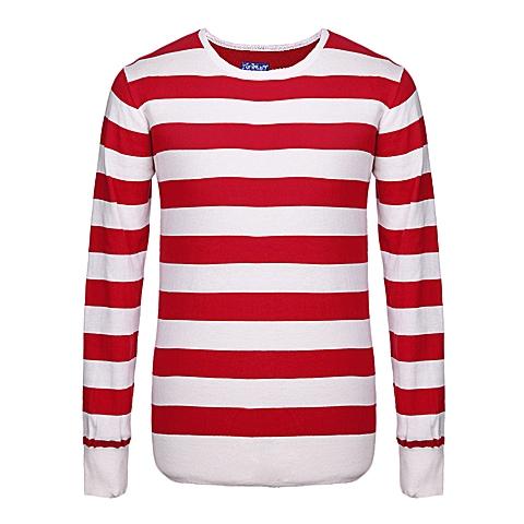 CAT/卡特 专柜同款 男装红/白针织长袖套衫CB1MWLSO722D21