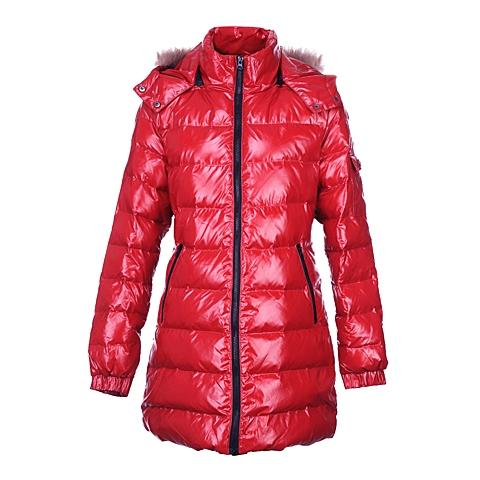 CAT/卡特 专柜同款 女装玫红色羽绒服CB3WODJK615G23