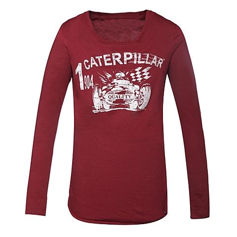 CAT/卡特女装暗红长袖T恤CB3WTLST655F29