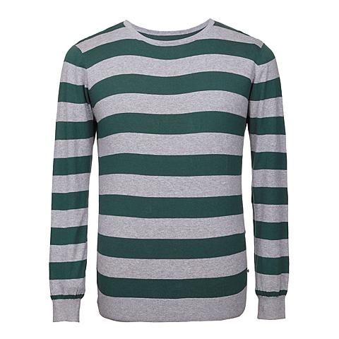 CAT/卡特 专柜同款 男装绿/灰针织长袖套衫CB1MWLSO722B51