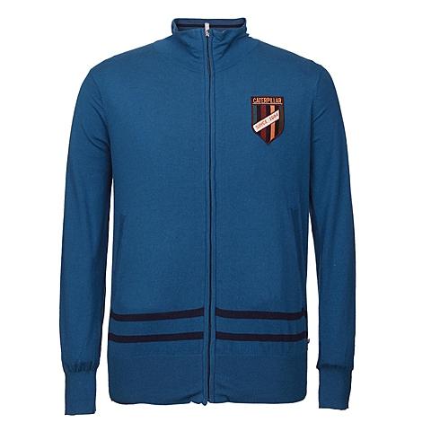 CAT/卡特 专柜同款 男装浅蓝针织长袖开衫CB1MWLSC725C76