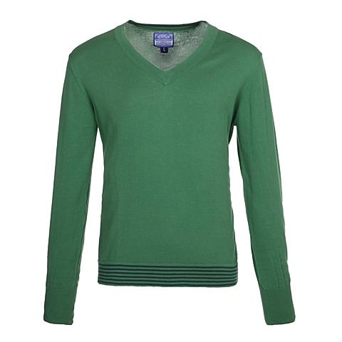 CAT/卡特 专柜同款 男装深草绿针织长袖套衫CB1MWLSO724D55