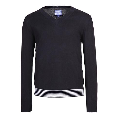 CAT/卡特 专柜同款 男装黑色针织长袖套衫CB1MWLSO724A01