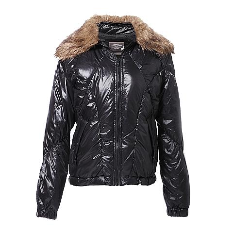CAT/卡特 专柜同款 女装深黑色羽绒服CB3WODJK616F00