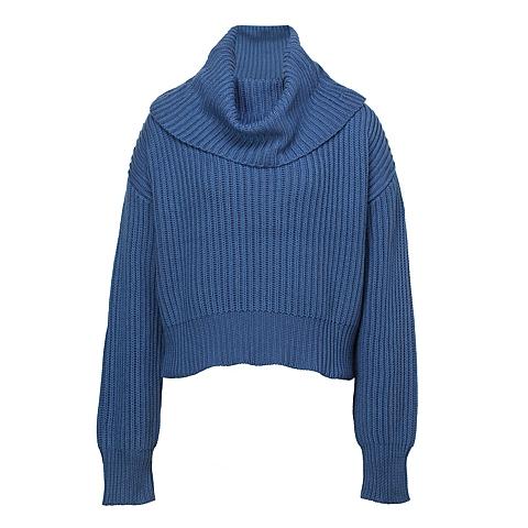 CAT/卡特 专柜同款 女装夜蓝毛衣CB3WWLSO702F78