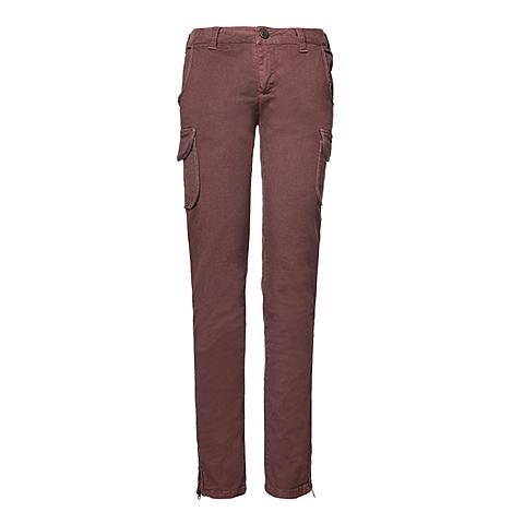 CAT/卡特 专柜同款 女装巧克力色休闲裤CB3WRPNT754G46