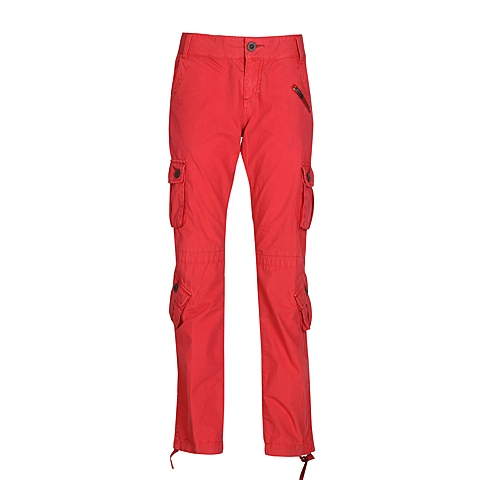 CAT/卡特 专柜同款 女装砖红色休闲裤CB1WCPNT621F26