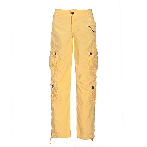 CAT/卡特 专柜同款 女装黄色休闲裤CB1WCPNT621F41