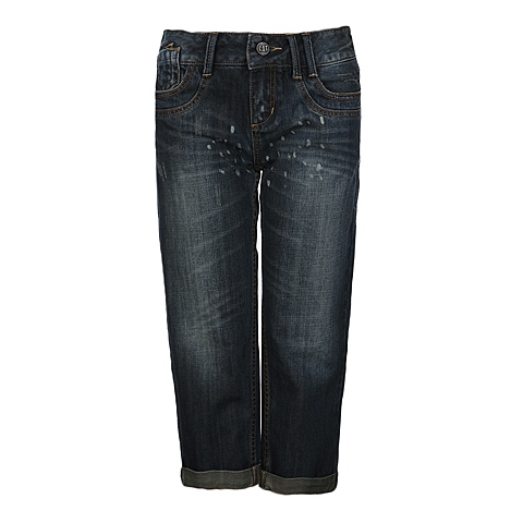 CAT/卡特 专柜同款 女装深蓝色牛仔中裤CB1WJCPN672F79