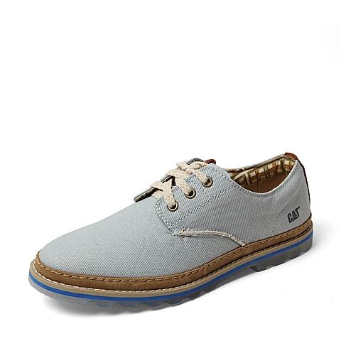 CAT/卡特春季专柜同款浅蓝色织物男休闲鞋9438ER73 专柜1