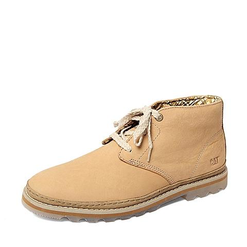 CAT/卡特2013秋季专柜同款杏色牛皮革男休闲鞋5813ER41 专柜1