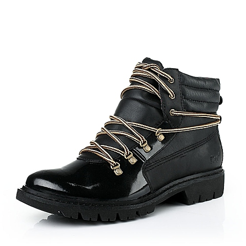 CAT/卡特黑色牛皮/合成革女装休闲鞋粗犷装备(Rugged)CAT粗犷P306327
