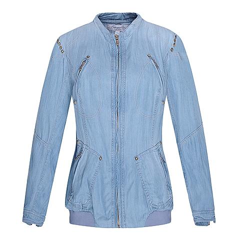 CAT/卡特 专柜同款 女装彩蓝基本外套CC1WOBJK704F74