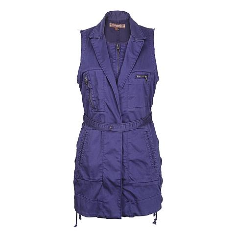 CAT/卡特 专柜同款 女装紫蓝梭织马甲CC1WOBVT713G72