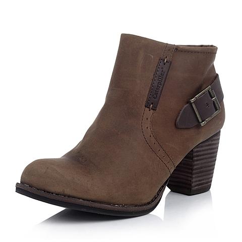 CAT卡特棕黄色牛皮女士户外休闲低靴P307048D3HDL45传奇复古(LRC)