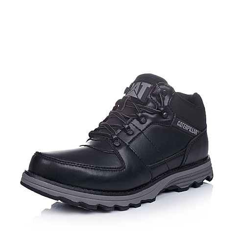 CAT卡特黑色牛皮/合成革/织物男士户外休闲鞋P717824D3KDR01粗犷装备(Rugged)