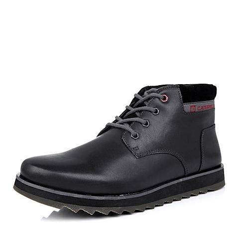 CAT卡特黑色牛皮男士户外休闲鞋P717972D3EDC01潮流密码(CODE)