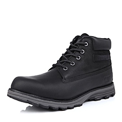 CAT卡特2014秋冬黑色牛皮/合成革男士户外休闲鞋P717822D3KDR01粗犷装备(Rugged)