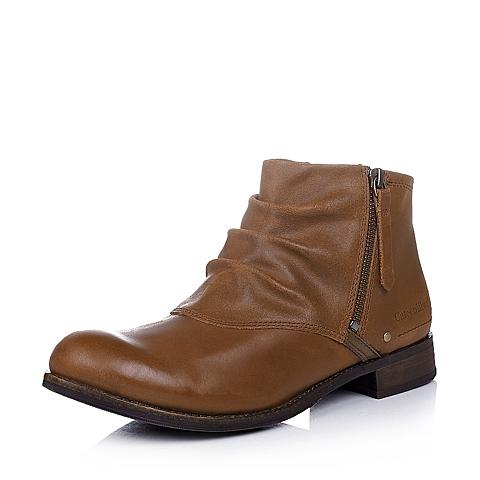 CAT卡特深咖色牛皮女士户外休闲低靴P307121D3HDL34传奇复古(LRC)