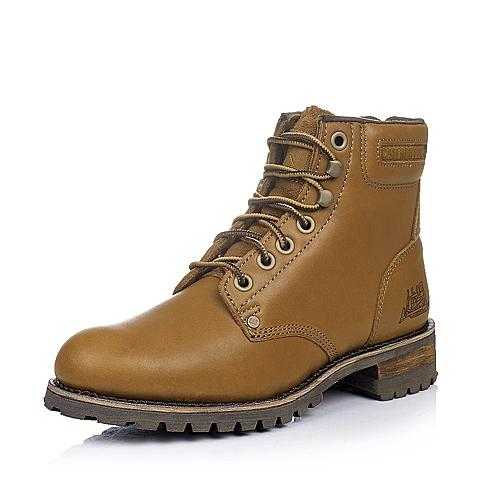 CAT卡特棕色牛皮男士户外休闲鞋P717702D3CDY35年轻复古(Y H)