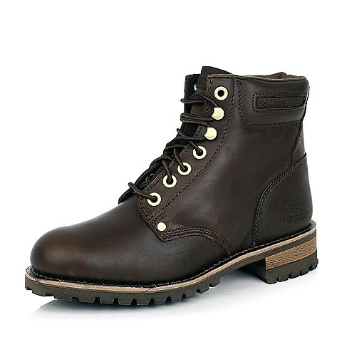 CAT卡特深棕色牛皮男士户外休闲鞋P717703D3CDY37年轻复古(Y H)