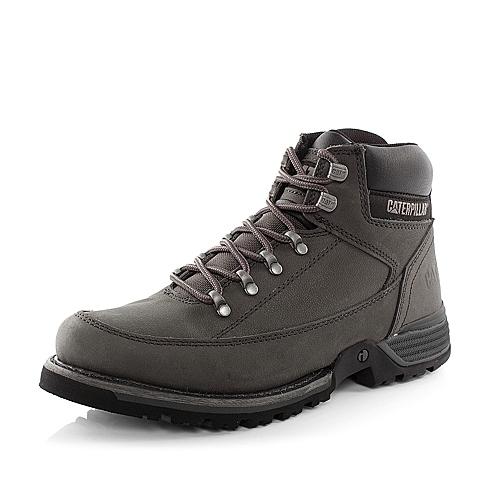 CAT卡特深灰色牛皮/合成革/织物男士户外休闲低靴P717847D3VDI03I-科技(iTech)