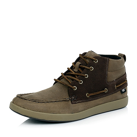 CAT卡特棕色牛皮休闲鞋P715311D3BDC36潮流密码(CODE)