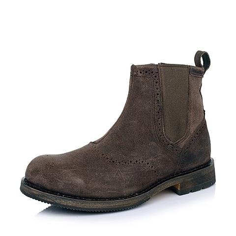 CAT卡特深咖色牛皮/织物男士户外休闲低靴P717856D3BDL34传奇复古(LRC)