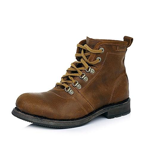 CAT卡特亮咖色牛皮男士户外休闲低靴P717864D3BDL32传奇复古(LRC)