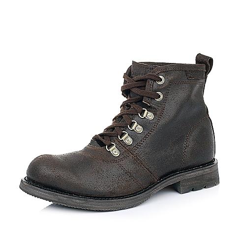 CAT卡特深咖色牛皮男士户外休闲低靴P717865D3BDL34传奇复古(LRC)