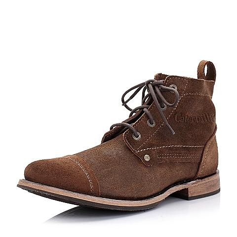 CAT卡特浅棕色牛皮男士户外休闲低靴P717735D3CDL35传奇复古(LRC)