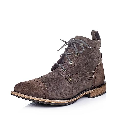 CAT卡特深咖色牛皮男士户外休闲低靴P717736D3CDL34传奇复古(LRC)