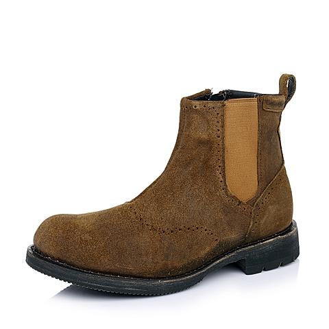 CAT卡特棕色牛皮/织物男士户外休闲低靴P717858D3BDL35传奇复古(LRC)