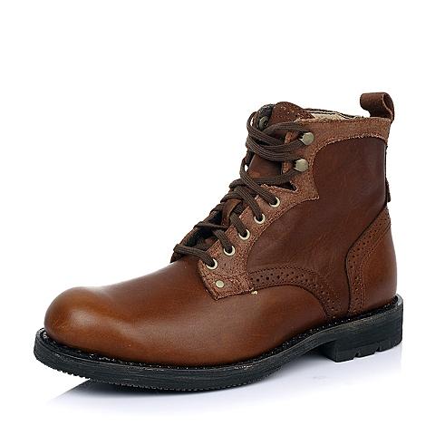 CAT卡特亮咖色牛皮男士户外休闲低靴P717862D3BDL32传奇复古(LRC)