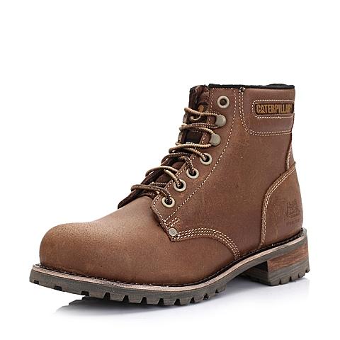 CAT卡特亮咖色牛皮男士户外休闲低靴P717701D3CDN32工业装备(Industrial)