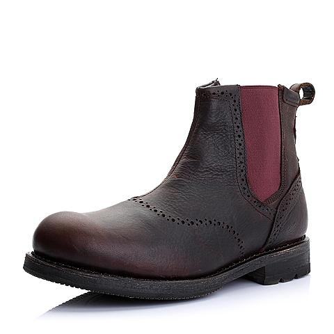 CAT卡特酒红色牛皮/织物男士户外休闲低靴P717859D3BDL27传奇复古(LRC)