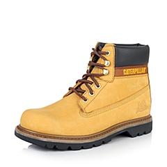CAT卡特亮黄色牛皮/合成革男士户外休闲低靴P717692D4BDR44粗犷装备(Rugged)