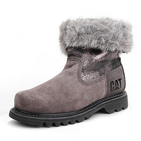 CAT/卡特专柜同款女装深灰色牛皮休闲鞋P307022D3BZR03