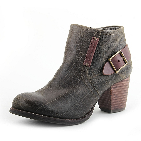 CAT/卡特季专柜同款橄榄绿猪皮女休闲鞋P307050D3HDL51  专柜2