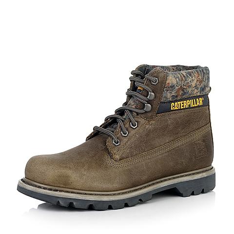 CAT/卡特棕色牛皮户外休闲鞋 粗犷装备(RUGGED)P717697D3BDR60