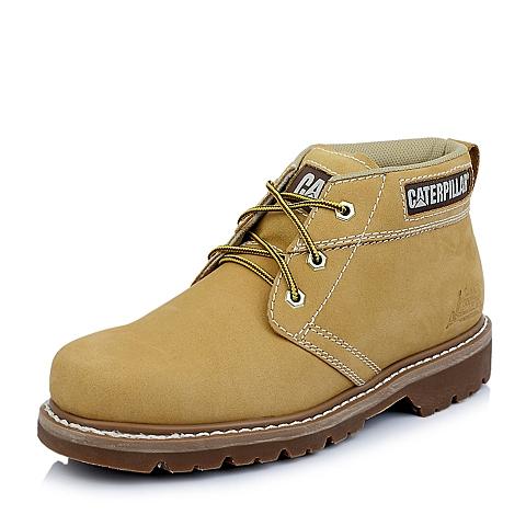 CAT卡特春夏专柜同款男子黄色牛皮休闲低靴P744029E1EDR40粗犷装备(Rugged)