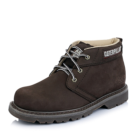 CAT/卡特春夏专柜同款男子棕色牛皮休闲低靴P709514E1EDR36粗犷装备(Rugged)