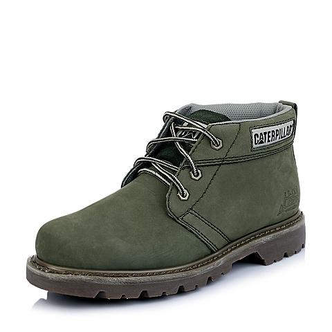 CAT卡特春夏专柜同款男子牛皮革/牛剖层革牛皮休闲低靴P714611E1EDR55粗犷装备(Rugged)