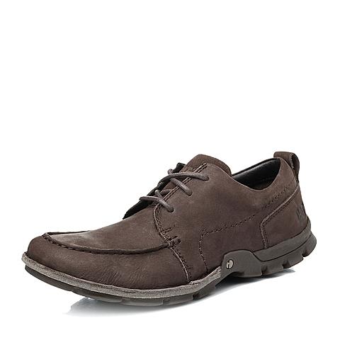 CAT/卡特专柜同款男子棕色牛皮男休闲鞋P716054E3WMI36
