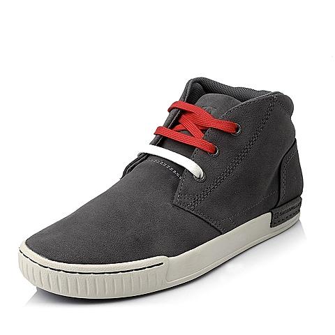 CAT/卡特年专柜同款浅灰色牛剖层革男士户外休闲低靴P717230E3YDC05潮流密码(CODE)